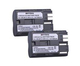 2 Stks 1800 mAh BP-511 BP511 BP 511 BP-511A Batterij Voor Canon G6 G5 G3 G2 G1 EOS 300D 50D 40D 30D 20D 5D MV300i Digitale Camera