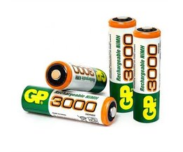 4 stks/partij GP AA 3000 mAh 1.2 V Oplaadbare Mh Batterij voor Zaklamp Laser pen Digitale camera Speelgoed