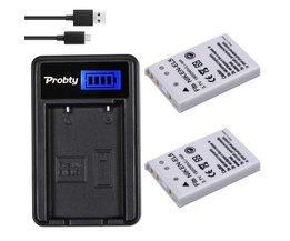 PROBTY 2 stks 1800 mAh EN-EL5 EN EL5 ENEL5 Batterij + LCD USB Charger voor NIKON Coolpix 3700 4200 P5000 5200 5900 7900 S10 P3 P4