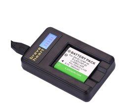 2xenel10 li-40b li 40b 42b batterij + usb lader voor olympus li-42b np-45, voor nikon en-el10 d-li63 d-li108 np-80 cnp80 klic-7006
