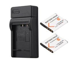 2 stks 1000 mAh NP-BN1 NP BN1 NPBN1 Digitale Camera Batterij Batterij + Usb-oplader voor Sony TX9 WX100 TX5 WX5C W620 W630 W670 TX100