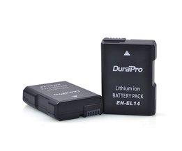 2 Stks EN-EL14 ENEL14 EN EL14 1200 mAh Batterij voor Nikon D90 D300 D5300 D5200 D5100 D3300 D3200 D3100 voor COOLPIX P7100 P7200 P7700