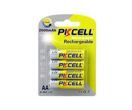 2 Pack/8 Stks PKCELL Mh AA Batterijen 2600 mAh 1.2 V NiMh Oplaadbare Batterij Voor Camera