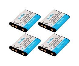 4 x DuraPro 1200 mAh 3.7 V LI-42B 42B Li-40B 40B NP-45 NP45 EN-EL10 DLI63 D-Li108 DLI108 NP-80 NP80 CNP80 KLIC-7006 K7006 batterij