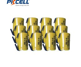 12 stks Sub C 4/5SC 1.2 V oplaadbare batterij 1200 mah 4/5 SC mh nimh mobiele met lassen pins tab voor elektrische boor
