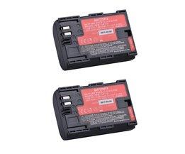 2 stks LP-E6 LP E6 LP-E6N batterij AKKU gemaakt met Japan Cellen voor Canon EOS 5D Mark II III 5DS 5DSR 6D 7D 60D 60Da 70D 80D