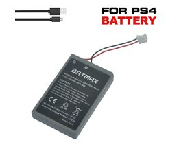 2 stks ps4 gamepad lip1522 1000 mah oplaadbare extended vervanging batterijen + 1 usb-kabel voor sony playstation ps4 controller