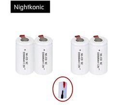 4 stks/partij SC batterij oplaadbare 2200 mAh subc batterij vervanging 1.2 v met tab voor makita NIGHTKONIC