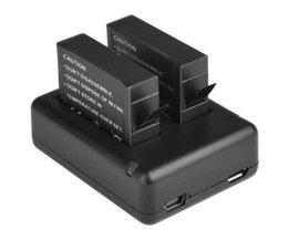 2 x ahdbt-401 401 gedecodeerd batterij + usb-oplader voor gopro hero 4 gaan pro 4