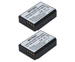 2 Stks LP-E10 LP E10 LPE10 Camera Batterijen voor Canon EOS 1100D 1200D 1300D Kus X50 X70 X80 Rebel T3 T5 T6