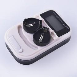MyXL Hoogwaardige lader, oplaadbare LIR2032 LIR2025 LIR3.6 V knop batterij, LED oplaadbare display, USB interface