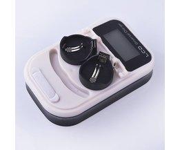 Hoogwaardige lader, oplaadbare LIR2032 LIR2025 LIR3.6 V knop batterij, LED oplaadbare display, USB interface