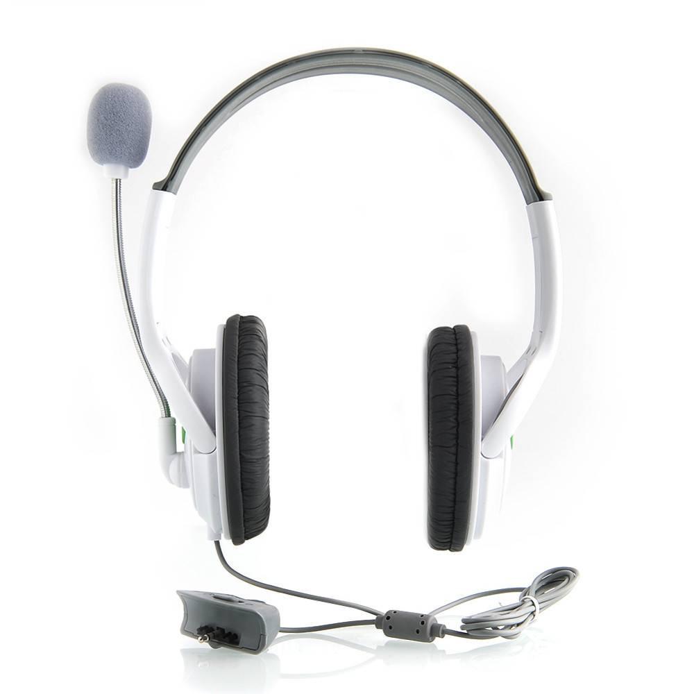 Hoge KwaliteitHeadset Hoofdtelefoon met Mic Microfoon Oortelefoon voor XBOX 360 Gaming Headset Wit