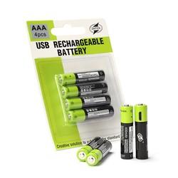 MyXL AAA 400 MAH Lithium Batterij ZNTER 1.5 V USB Opladen Oplaadbare Batterij li-polymeer Multifunctionele Batterijen 4 Stks/set Pilha