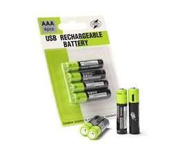 AAA 400 MAH Lithium Batterij ZNTER 1.5 V USB Opladen Oplaadbare Batterij li-polymeer Multifunctionele Batterijen 4 Stks/set Pilha