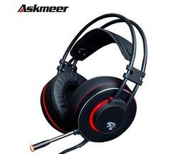 Askmeer V12 PC Gamer Headsets Gaming Hoofdtelefoon USB Stereo Game Headset met Microfoon Led Light voor Computer Laptop Beste Casque