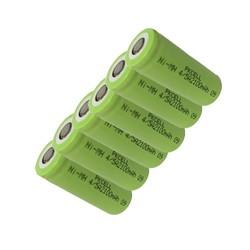 MyXL 6 Stks nimh-batterij 1.2 v 4/5A 2100 mah nimh oplaadbare batterijen in platte top, non PCM, in industriële pvc verpakking