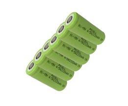 6 Stks nimh-batterij 1.2 v 4/5A 2100 mah nimh oplaadbare batterijen in platte top, non PCM, in industriële pvc verpakking