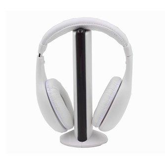 5 in1 Wireless Hifi-hoofdtelefoon FM Radio chatten Monitor Wired Noise Cancelling Headset voor TV PC Mp3 telefoon