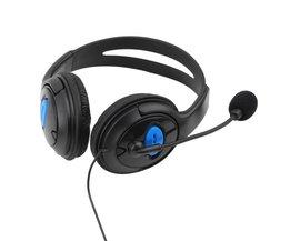 Verkoper Raden 3.5mm Hoofdtelefoon Game Gaming Hoofdtelefoon Headset met Microfoon Wired voor PS4 Sony PlayStation 4/PC Computer NI5L