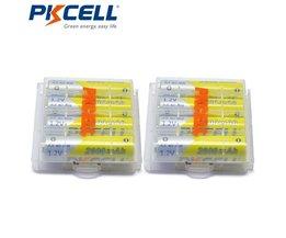 8 stks PKCELL Batterij NIMH AA 2600 Mah 1.2 V 2A Mh Oplaadbare Batterijen AA Bateria Baterias + 2 stks batterij Hold Case Dozen
