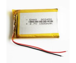 3.7 V 1500 mAh Lithium-polymeer Accumulator Oplaadbare Li Batterij Voor E-boeken mobiele power bank DVD Tablet PC 803450