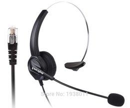Comfortabele Vaste Bedrade Telefoon Headset RJ9 Connector RJ9/RJ10 plug voor Nortel, Aastra, Intel, Shore, Norstar etc