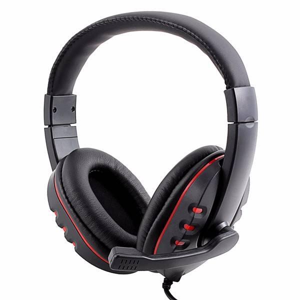 MEMTEQ Headset Gamer Gaming Headset USB 2.0 Lederen Computer Hoofdtelefoon met Microfoon 2 m voor PS