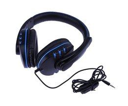ALLOYSEED Gaming Hoofdtelefoon Voor PS4 3.5mm Wired Moving Coil Gaming Hoofdtelefoon met Draaibare Microfoon voor Sony PS4