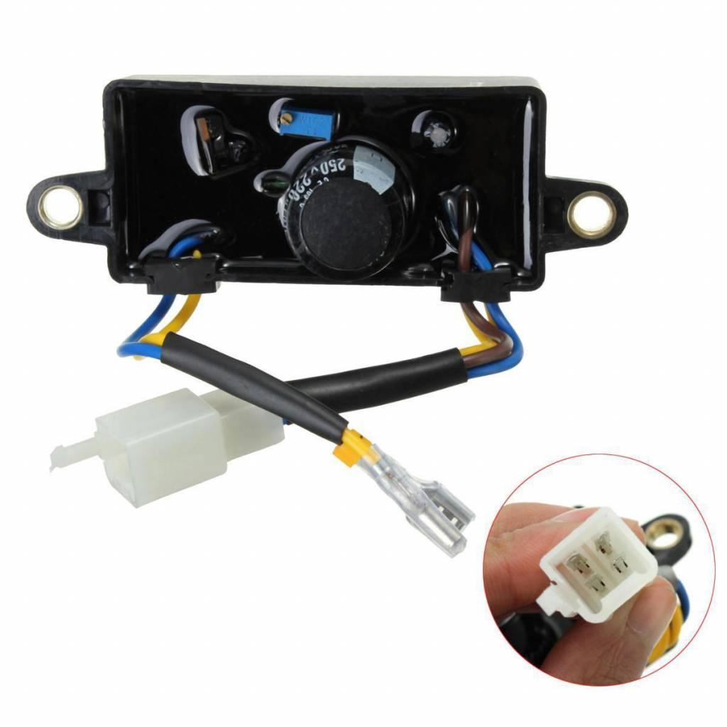 Voltage Gelijkrichter Elektrische Start Eenfase Generator AVR 110*38*35mm Voor 2KW-3KW Chinese Benzi