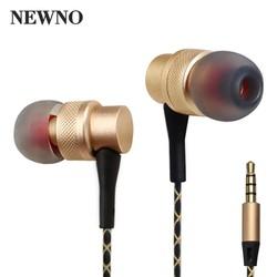 MyXL NEWNO ear Draad Oortelefoon met microfoongaming Headset Metalen HIFI Stereo Bass Oordopjes voor telefoon computer oortje