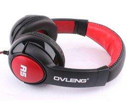 OVLENG OV-A5 HiFi Diepe Bas Stereo Wired Hoofdtelefoon Muziek Headset Met Microfoon