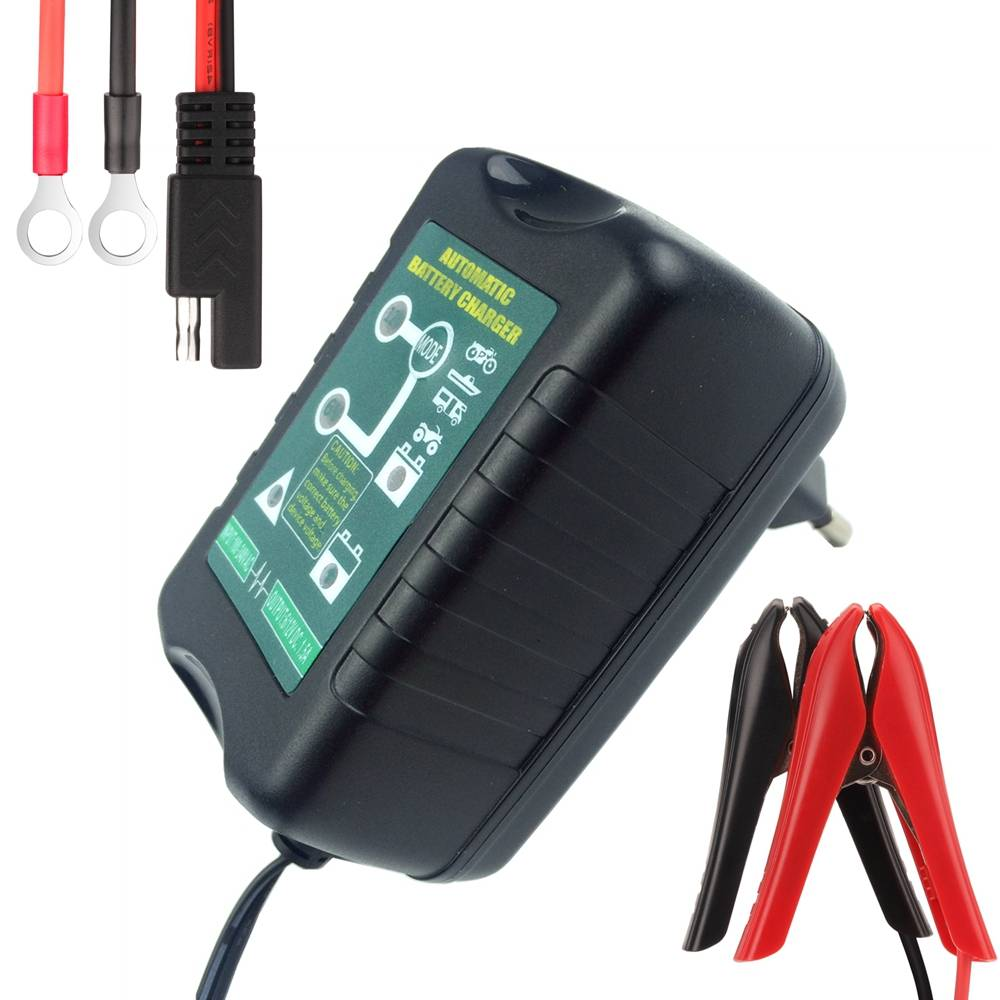 6 V-12 V Selecteerbare 1.5Amp Auto Scooter Motorfiets Acculader Beheerder 4-Stage Diepe Cyclus Smart