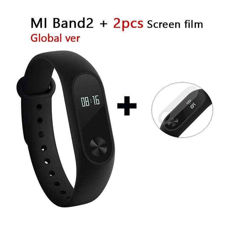 Global Versie Xiaomi Mi Band 2 Smart Armband Polsband Miband 2 Fitness Tracker Android Armband Smart
