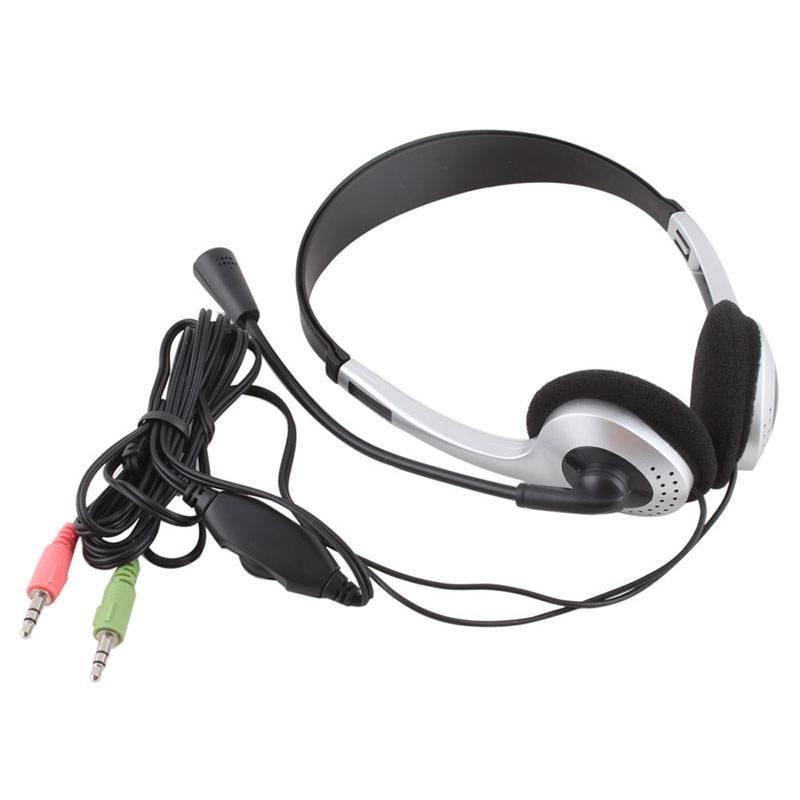 Goedkope 3.5mm Plug Gaming Hoofdtelefoon w-Microfoon MIC VOIP Headset Skype voor PC Computer Laptop