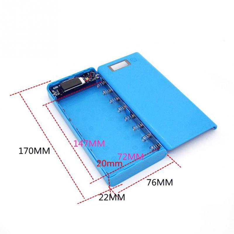 17*8*2.2 cm5 V Dual USB 18650 Power Bank Batterij box mobiele telefoon oplader diy shell case voor i