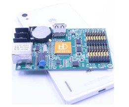 Enkele dual kleur led module p10 display controlekaart HD-E62 huidu led systeem