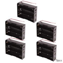 MyXL 5 stks 18650 Plastic Batterij Houder Opbergdoos Case voor 3x18650 Batterij Houder Zwart Batterij Case Houder Opslag Box