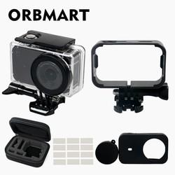 MyXL ORBMART 5 in 1 Waterdichte Case, Frame, Siliconen Cover, Tas, Anti-fog Inserts Voor Xiaomi Mijia Mini 4 K Sport Action Camera Accessoire