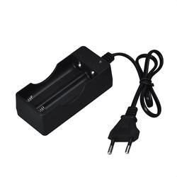 MyXL 2016Koop Zwart 2 Slots AC 110 V 220 V Dual Charger voor 18650 3.7 V Oplaadbare Li US EU Plug Adapter Lading Dec7 #
