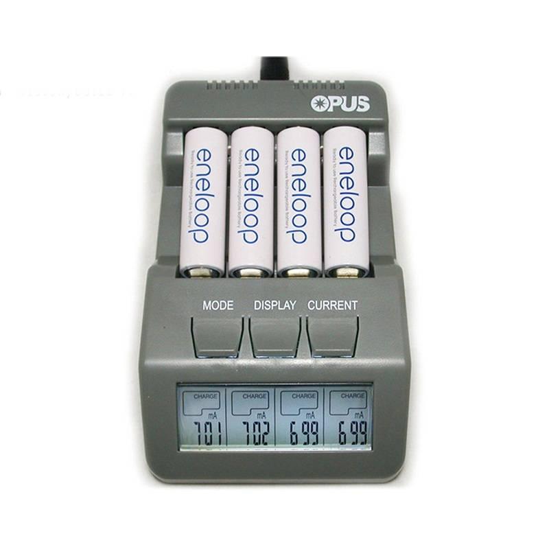 Opus BT-C700 Acculader NiCd NiMh LED Screen Digitale Intelligente AAA 16340 AA 4 Slots Opladers EU U