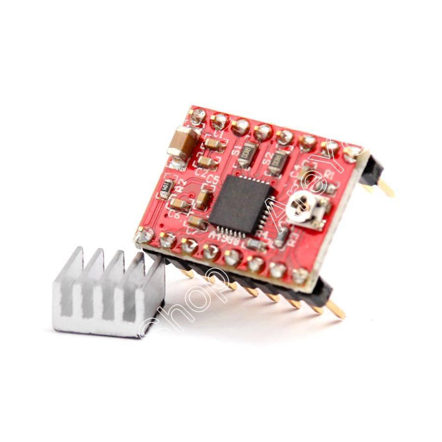 Areyourshop Koop 5 STKS A4988 Stepper Driver Met Heatsink Voor 3D Printer Compatibel Voor Arduino