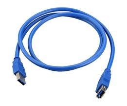 SuperSpeed USB 3.0 Man-vrouw Datakabel Verlengsnoer Voor PC Laptop Camera