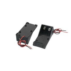 MyXL 10 stks Twee Draad Leads Lente Clip 9 V Batterij Houder Case Opbergdoos