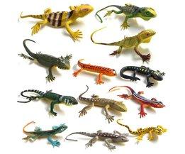 12 stks/Hagedissen Reptiel Simulatie plastic bos wild dier model speelgoed ornamenten Levensechte PVC beeldje woondecoratieVoor Kids