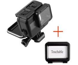 130 voeten Waterdichte Behuizing Case + Touchscreen Backdoor Cover Voor Gopro Hero 5 6 Black Action Camera