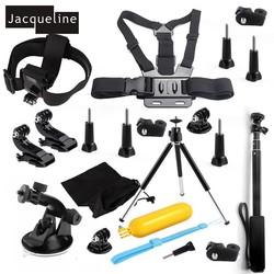 MyXL Jacqueline voor Set Kit Accessoires voor Sony Actie Cam HDR AS50 AS200V AS30V AS100V AZ1 mini FDR-X1000V/W 4 k voor Yi action cam