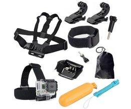 SINDAX Voor GoPro Accessoires Borstband Head Strap + Polsband Mount + Float Bobber +bag Voor Gopro Camera Hero 4 3