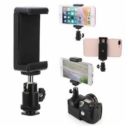 MyXL Collectie 1 st 360 Swivel Balhoofd Flitsschoen Adapter Mount Met Telefoon Clip Houder voor DSLR Camera Mobiele telefoon