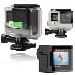 MyXL MayitrLCD Screen Protector + Waterdichte Behuizing Case Lens Beschermfolie Voor GoPro Hero 4 Accessoires